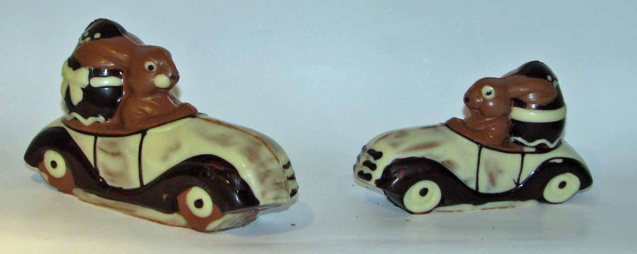 Ostergeschenke Hasen Im Auto Aus Schokolade